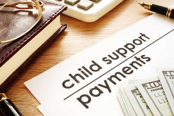 child support payments document and money